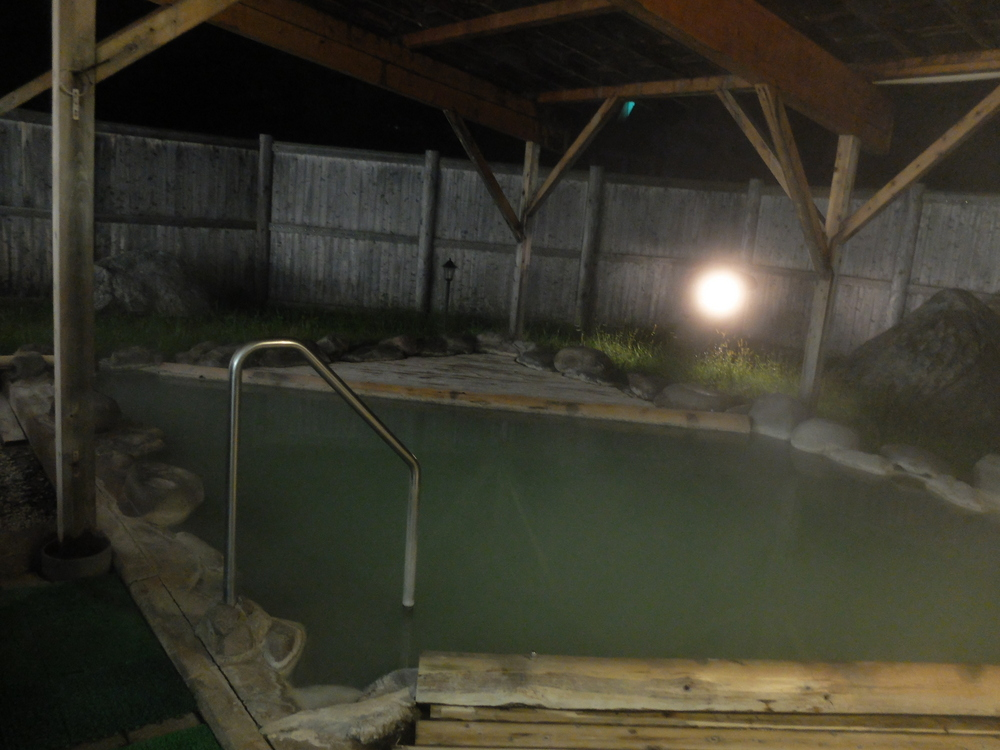 おおるり山荘夜露天風呂