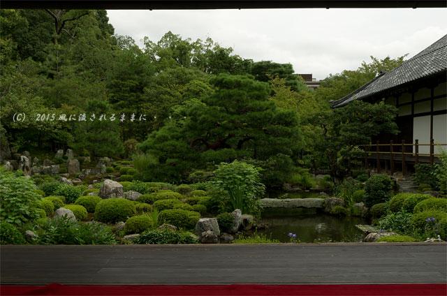 2015年8月撮影 雨の京都・等持院1