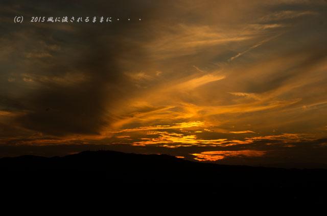 015年9月撮影 奈良・若草山から見た夜景と・・・、ちょっとだけ夕景(汗)2