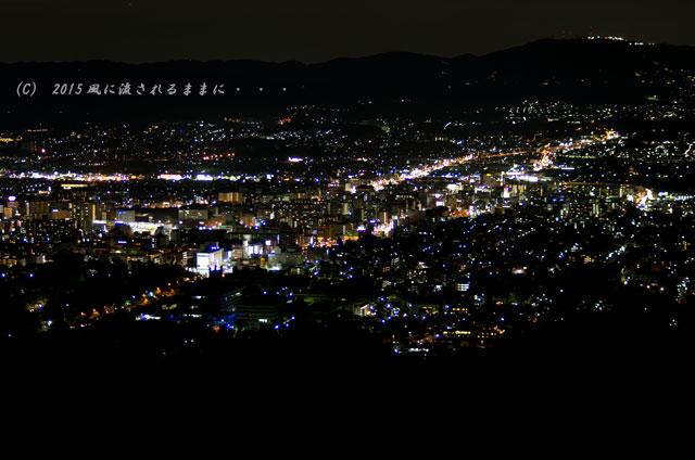 015年9月撮影 奈良・若草山から見た夜景と・・・、ちょっとだけ夕景(汗)5