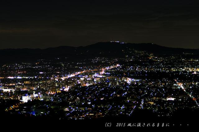 015年9月撮影 奈良・若草山から見た夜景と・・・、ちょっとだけ夕景(汗)6