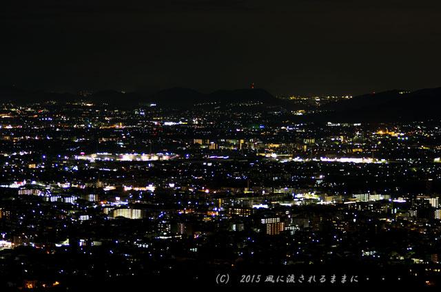 015年9月撮影 奈良・若草山から見た夜景と・・・、ちょっとだけ夕景(汗)7