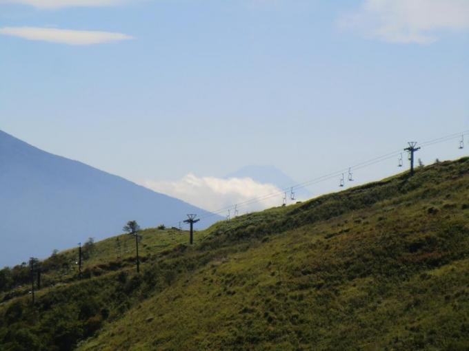 リフトの上に富士山