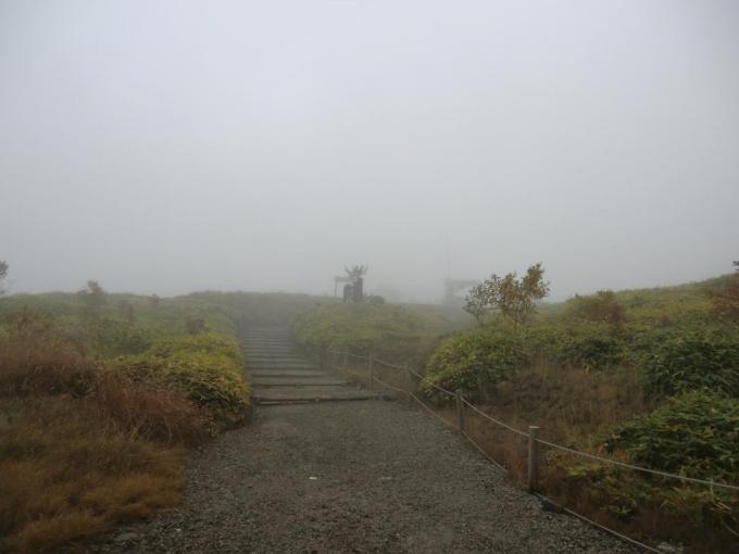 前山リフトからの道