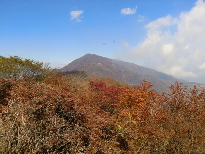 紅葉と黒檜山
