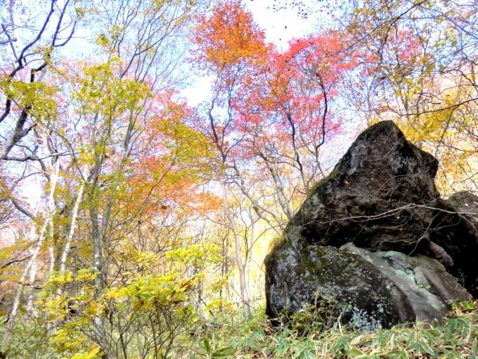 大岩と紅葉