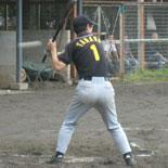 6回裏、田中が適時二塁打を放つ