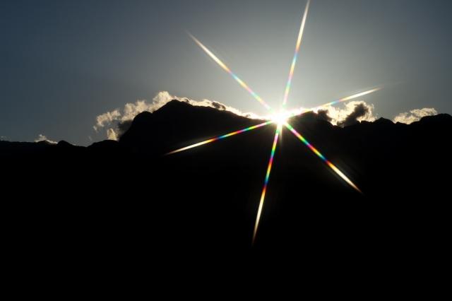 甲斐駒-夕陽-01