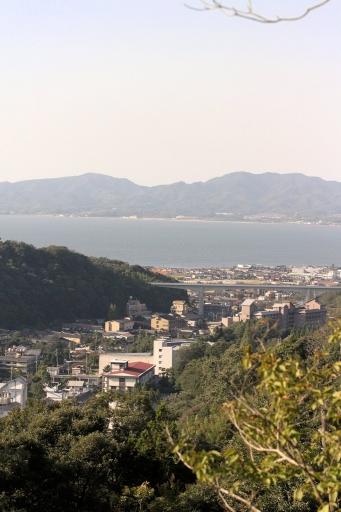 金刀比羅宮から見た玉造温泉と宍道湖