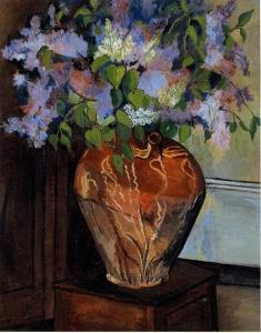 スュザンヌ・ヴァラドン「花瓶の中のリラの花束」