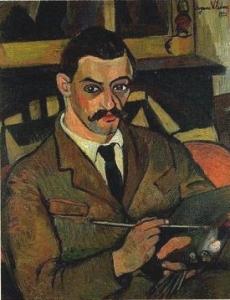 スュザンヌ・ヴァラドン「モーリス・ユトリロの肖像」