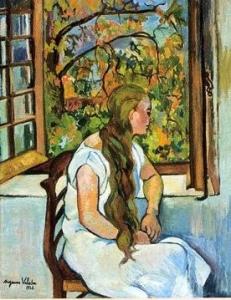 スュザンヌ・ヴァラドン「窓辺のジェルメーヌ・ユッテル」