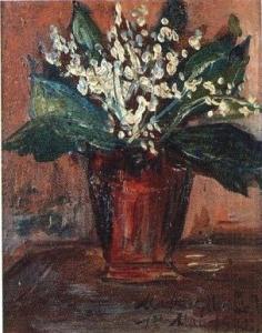 モーリス・ユトリロ「すずらんの花束」
