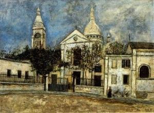 モーリス・ユトリロ「サン=ピエール教会とサクレ=クール寺院,モンマルトル」