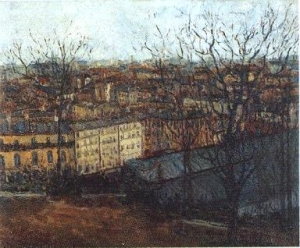 モーリス・ユトリロ「モンマルトルのサン=ピエール広場から眺めたパリ」