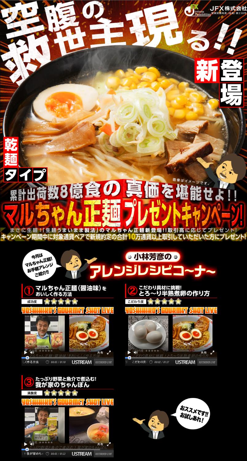 マルちゃん正麺プレゼントキャンペーン!!