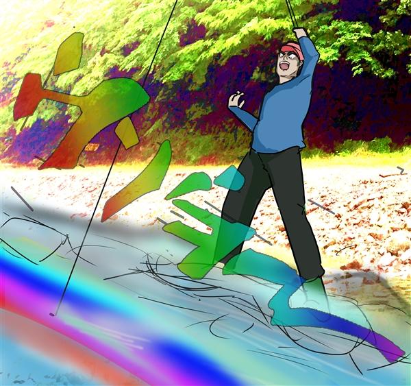 虹色の輝き