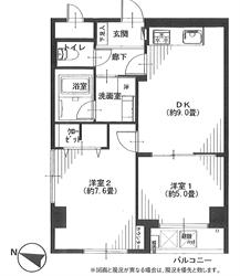 エクセル南品川201号間取り図_R