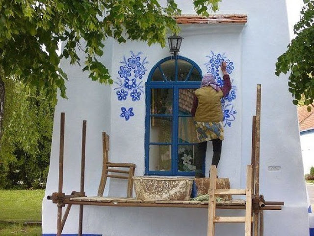 wow czech grandma that paints flowers in her village