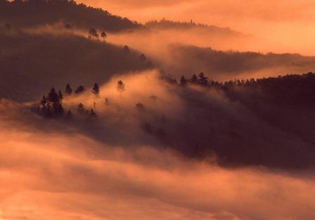 上品山から稲井雲海