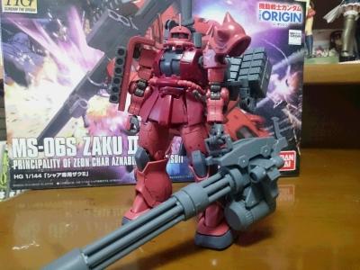 HG シャア専用ザクⅡ(機動戦士ガンダム THE ORIGN) 俺ガンダム版001
