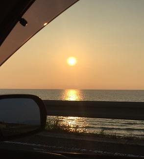 キレイな夕日だね~