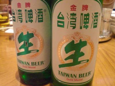 生なのに瓶な台湾ビール