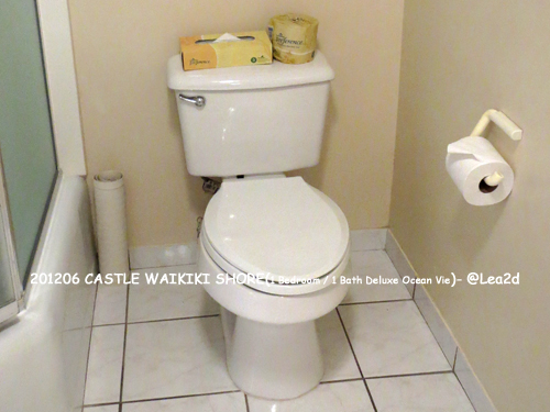 2012年6月 CASTLE WAIKIKI SHORE ※ウォシュレットなし