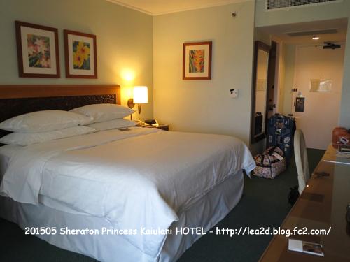 2015年 Sheraton Princess Kaiulani(シェラトンプリンスカイウラニ) の部屋(ベッドルーム)