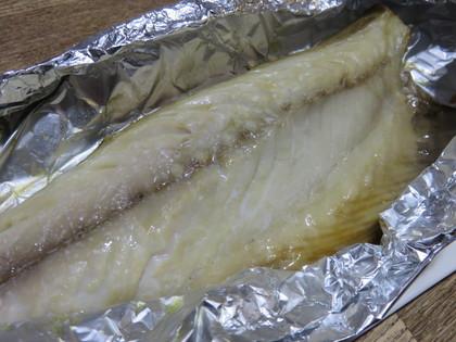 鯖の干物も焼きました