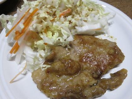 生姜焼きと白菜サラダ