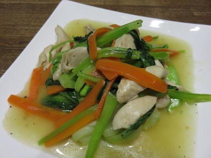 鶏ささみと野菜の中華炒め