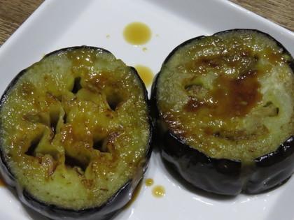 茄子のステーキわさび醤油
