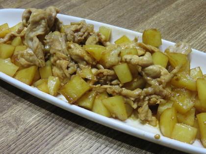 豚肉とジャガイモの甘辛ニンニク醤油