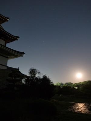スーパームーンin桃山城1509