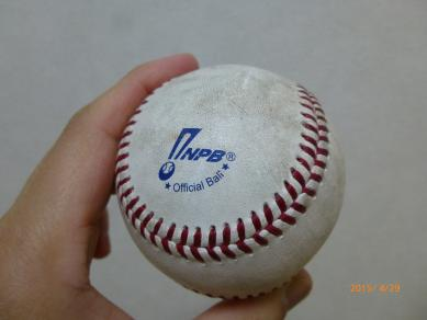 人生初のファールボール