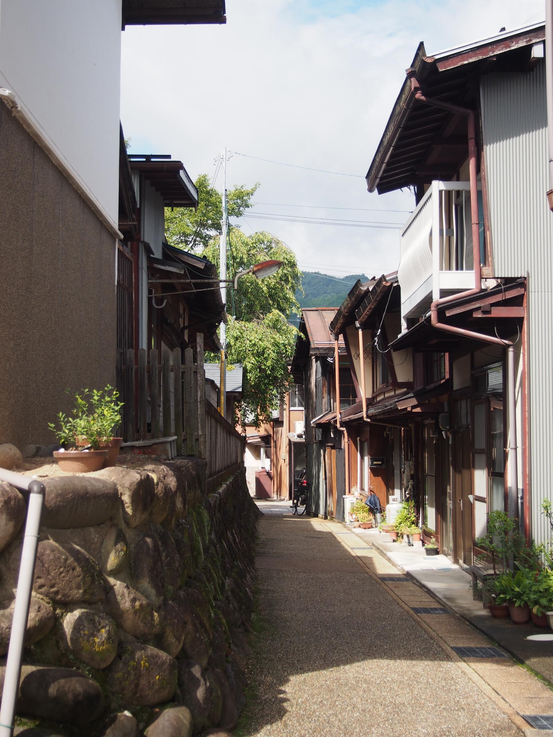 日吉神社の道