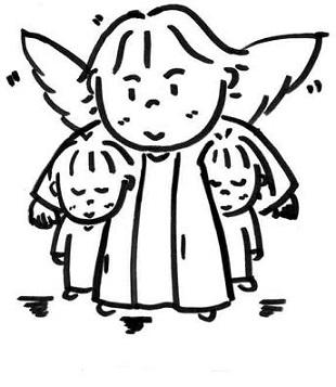 守護天使と子供達