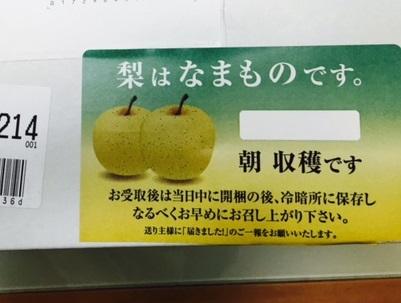 梨はなまものです