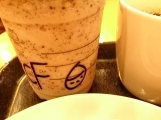 スターバックスコーヒー ローストナッティチェスナッツフラペチーノ¥560a