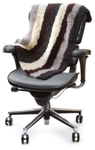 miltの膝掛けと椅子