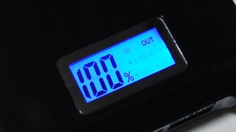 2000mAh ライトアップ照明機能付きモバイルバッテリー3
