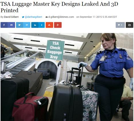 スーツケースのTSAロックはマスターキー情報が流出、データがネット上に公開され大問題に!