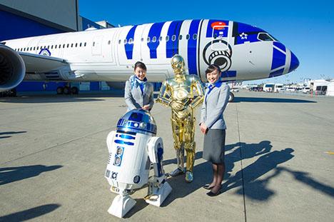 ANAの「R2-D2 ANA JET」が完成!披露目イベントは、本物のR2-D2も!