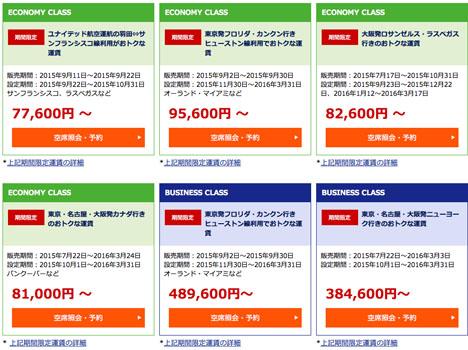 燃油込み77,600円~、ANAの販売するユナイテッド航空の羽田~サンフランシスコ線はお得!