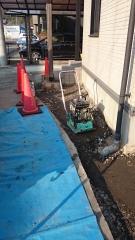 多治見市駐車場改修砕石転圧