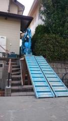 多治見市造園リフォーム工事重機搬出2
