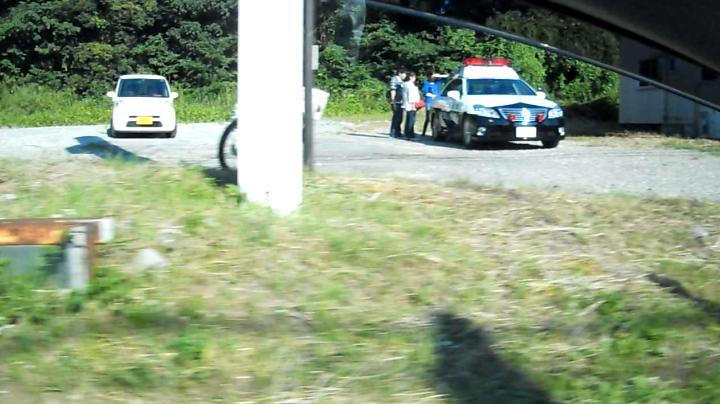 畑交番付近で(携帯?シートベルト?)取締り、捕まったドライバー