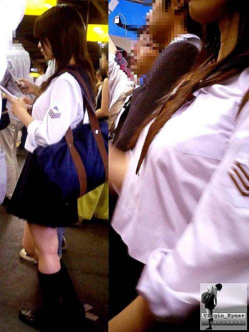 【街撮り盗撮画像】 年中ミニスカのJKの露出に対する集団心理www 37枚 No.29