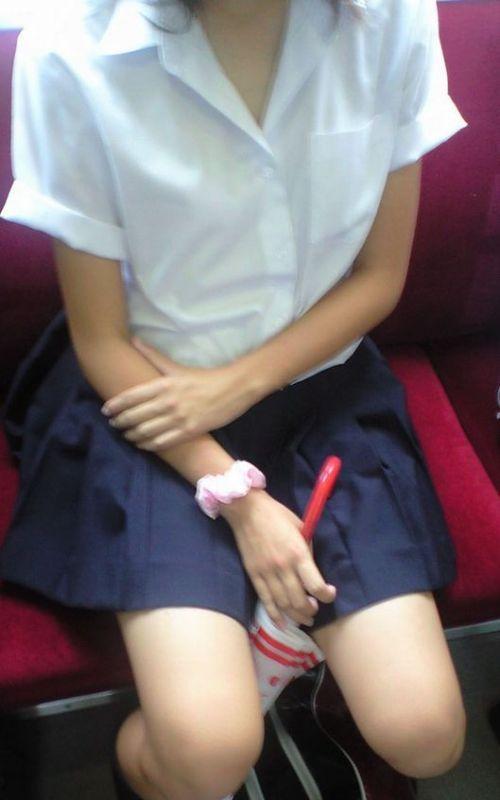 【ムチムチエロ】電車通学で座ってるJKを盗撮した画像集めたった 36枚 No.19